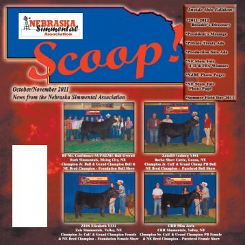 2011 October Scoop - Nebraska Simmental Association
