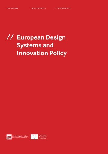 // European Design Systems and Innovation Policy - See Project