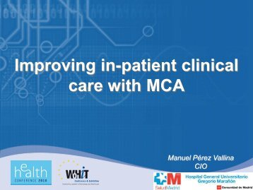 Improving in-patient clinical care with MCA - World of Health IT