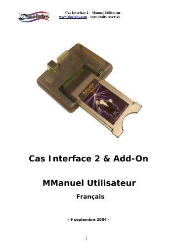 Cas Interface 2 & Add-On MManuel Utilisateur Français - SEEIT