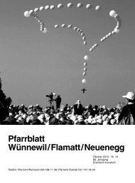 Pfarrblatt Oktober 2013 - Pfarrei Wünnewil-Flamatt