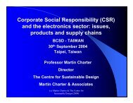 Corporate Social Responsibility (CSR) and the electronics sector ...