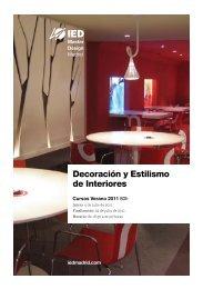 Decoración y Estilismo de Interiores - IED Madrid