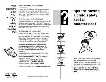 tips for buying a child safety seat or booster seat