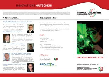 INNOVATIONS GUTSCHEIN - InnovationsAllianz
