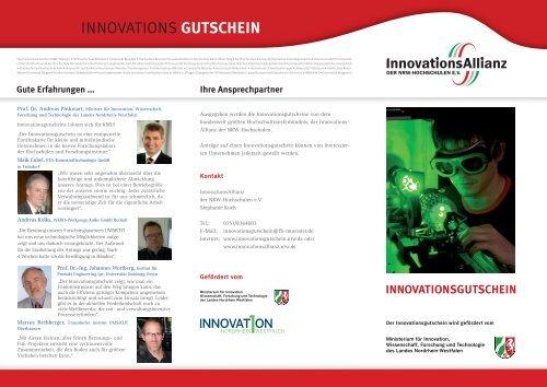 INNOVATIONS GUTSCHEIN - InnovationsAllianz