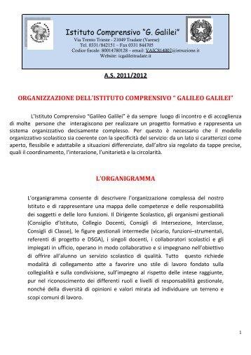 """Organigramma 2011-2012 - I.C. """"G. Galilei"""" Tradate"""