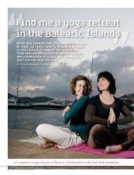 Find me a yoga retreat in the Balearic Islands - Phoenix Property SL