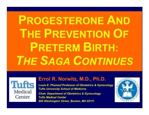 Progesterone and the Prevention of Preterm Birth - Cmebyplaza.com