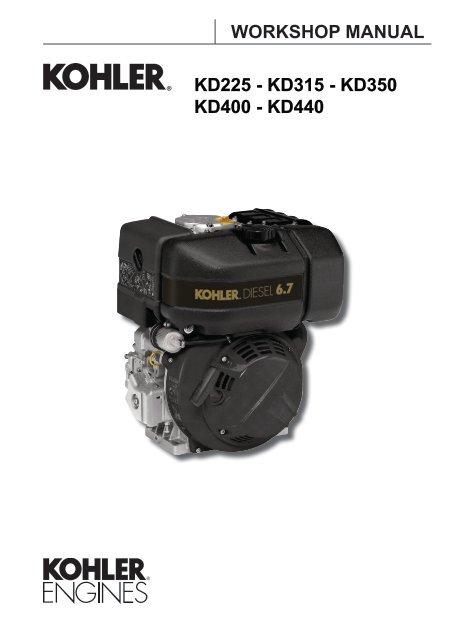 KD225 - KD315 - KD350 KD400 - KD440     - Kohler Engines
