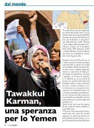 Tawakkul Karman, una speranza per lo Yemen - Stimmatini
