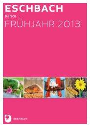 Vorschau Karten Frühjahr 2013 - Verlag am Eschbach