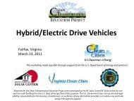 Hybrid/Electric Drive Vehicles - Virginia Clean Cities