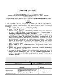 Allegato A _DISCIPLINARE TECNICO ... - Comune di Siena