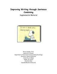 Improving Writing through Sentence Combining - Center on ...