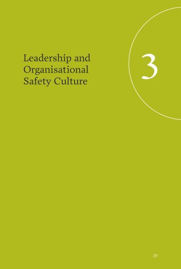 Leadership and Organisational Safety Culture - Management Briefs