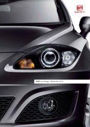 SEAT Leon Range - Model Year 2012