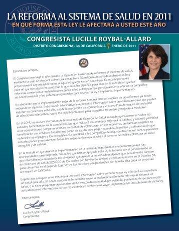 la reforma al sistema de salud en 2011 - Congresswoman Lucille ...