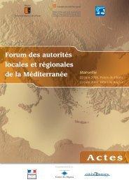 Actes Forum ALR juin 2008. Fr - Commission Méditerranée de CGLU