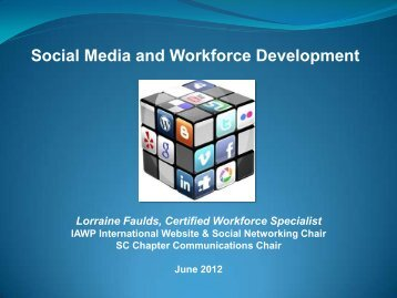 Social Media and Workforce Development - International ...