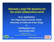 Xtremely Large File Systems for the small collaborative world - HPTS