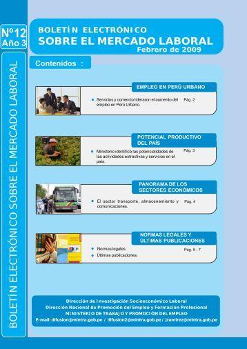 boletin nº 12 - Ministerio del Trabajo y Promoción del Empleo