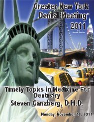 Monday, November 28, 2011 - Greater New York Dental Meeting