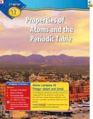 Chapter 17: Properties of Atoms and the Periodic Table