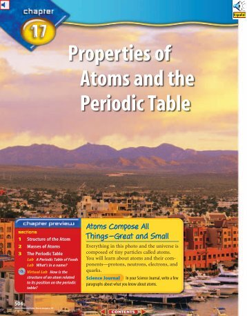 Chapter 4 resource atoms elements and the periodic table chapter 17 properties of atoms and the periodic table urtaz Choice Image