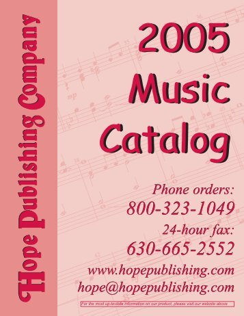 catalog 2005.qxp - Hope Publishing Company