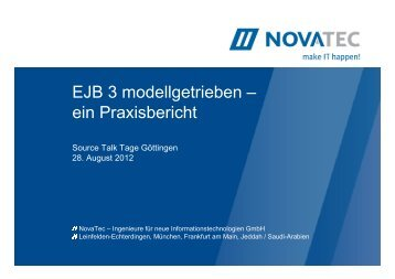 EJB 3 modellgetrieben – ein Praxisbericht - Source Talk Tage 2013