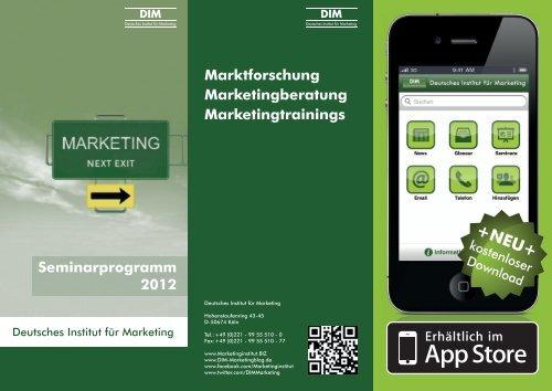 Seminarprogramm - Deutsches Institut für Marketing