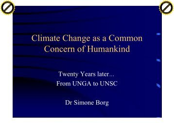 Climate Change as a Common Concern of Humankind