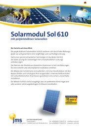 Solarmodul Sol610 - jms Solar Handel GmbH