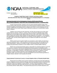 Contact - The Oceans and Human Health Initiative - NOAA