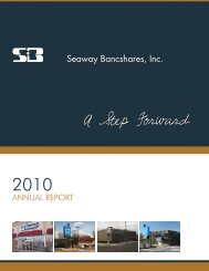 2010 annUaL rePOrT - Seaway Bank and Trust Company