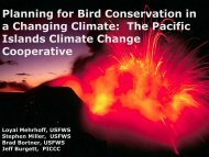 The Pacific Islands Climate Change Cooperative - American Bird ...