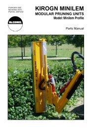 Kirogn MINILEM - Parts Manual - McConnel