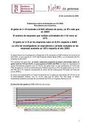 El gasto en I+D asciende a 8.945 millones de euros, un 9% más que ...