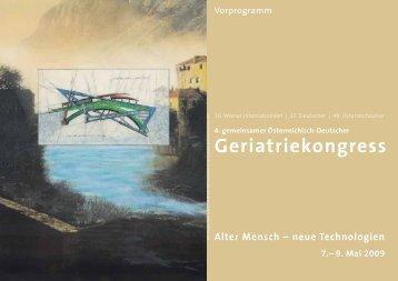 Geriatriekongress - Österreichische Gesellschaft für ...