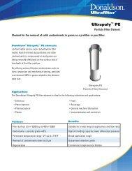 Ultrapoly PE.qxd - Donaldson Company, Inc.