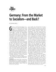 Germany: From the Market to Socialism—and Back?