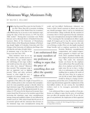 Minimum Wage, Maximum Folly