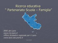 """Ricerca educativa """" Partenariato Scuola – Famiglia"""""""