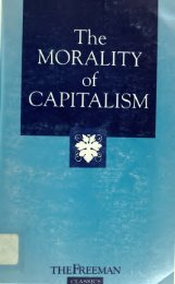 The Morality of Capitalism - Foundation for Economic Education