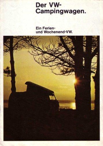 """Volkswagen, Januar 1973, """"Der VW-Campingwagen."""", PDF 1.9MB"""