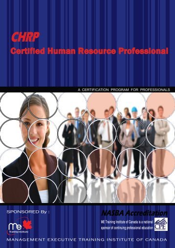 Download brochure - ME training institute of Canada
