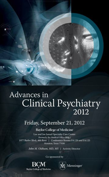 Clinical Psychiatry - CME Activities