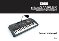 microSAMPLER Owner's Manual - Korg