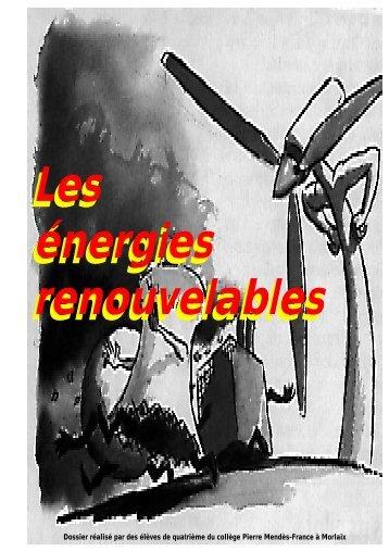 Les énergies renouvelables - Technologie en collège